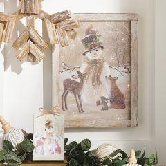 Snowman Lighted Framed Print