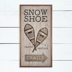 Snowshoe Trails Arrow Brown Framed Wood Wall Art