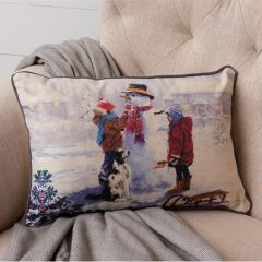 Snowy Day Seasonal Accent Pillow