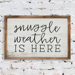 Snuggle Weather Framed Seasonal Wall Sign