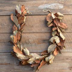 Southern Farmhouse Rustic Magnolia Leaf Garland