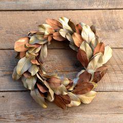 Southern Farmhouse Rustic Magnolia Leaf Wreath