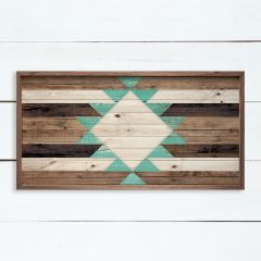 Southern Teal Pattern Framed Wall Art