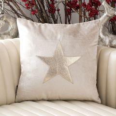 Sparkle Star Velvet Accent Pillow