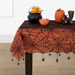 Spiderweb Lace Fall Farmhouse Tablecloth