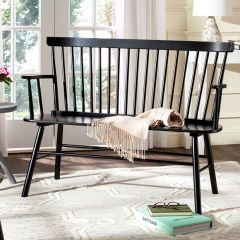 Spindle Back Farmhouse Bench