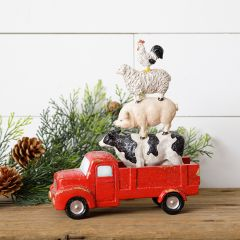 Stacked Animal In Truck Figure