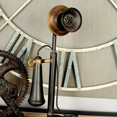 Standing Antique Style Metal Phone