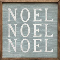 Steel Noel Noel Noel Framed Wood Wall Art
