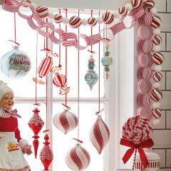 Striped Chain Christmas Garland
