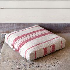 Striped Linen Floor Cushion