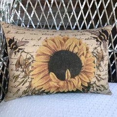 Sunflower Burlap Pillow