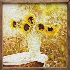 Sunflower Painting Framed Wall Art