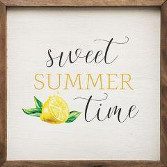Sweet Summer Time Framed Sign