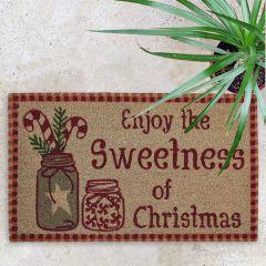 Sweetness of Christmas Holiday Doormat