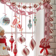Swirling Peppermint Candy Garland
