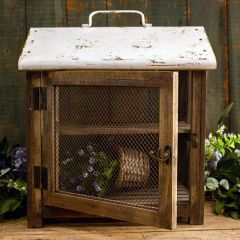 Tabletop Farmhouse Roof Cabinet