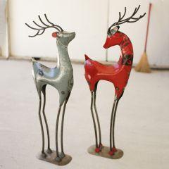 Tabletop Metalwork Deer Set of 2