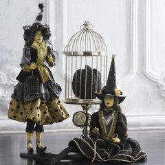 Tabletop Polka Dot Witch Figurine