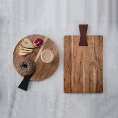 Tail Handled Acacia Wood Cutting Board One of Each