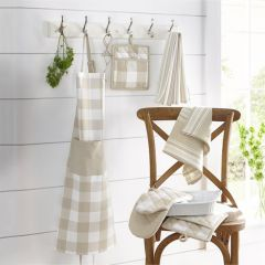 Tan and White Kitchen Accessory Collection