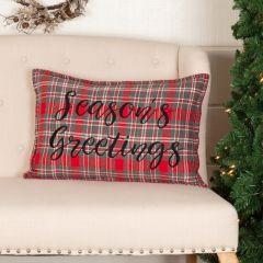Tartan Plaid Season's Greetings Accent Pillow