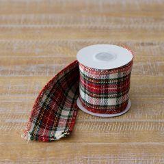 Tartan Wired Ribbon Set of 2