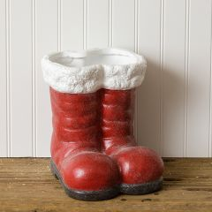 Terra Cotta Santa Boots Planter