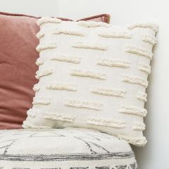 Textured Woven Cotton Throw Pillow
