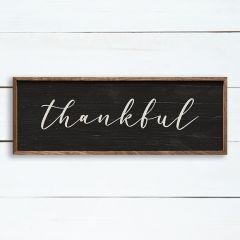 Thankful Black Framed Sign