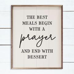 The Best Meals Begin Wall Art