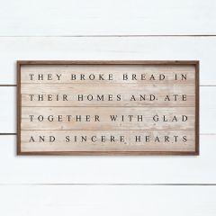 They Broke Bread Wall Art