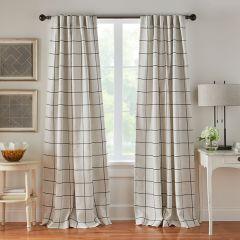 95 Inch Thin Plaid Curtain Panel Bundle
