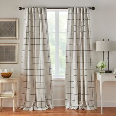 84 Inch Thin Plaid Curtain Panel Bundle