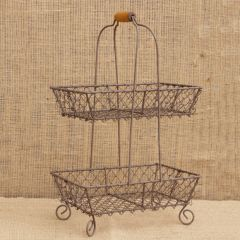 Tiered Wire Basket With Handle