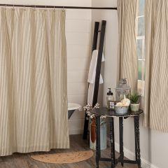 Timeless Ticking Stripe Shower Curtain