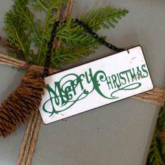 Tiny Metal Merry Christmas Gift Tag Set of 6