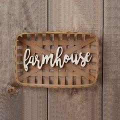 Tobacco Basket With Farmhouse Cutout