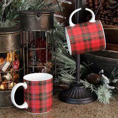 Traditional Tartan Coffee Mug Set of 4
