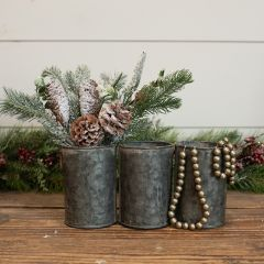 Triple Galvanized Bucket Planter