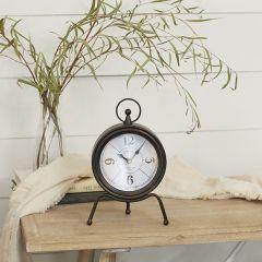 Tripod Base Metal Table Clock