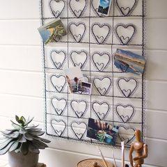 Twenty Four Heart Wire Photo Display