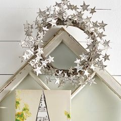 Twig Wreath With Sheet Music Stars