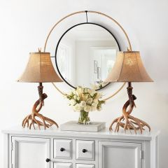 Twisted Antlers Tabletop Lamp Set of 2