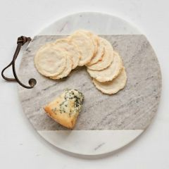 Two Tone Round Marble Cheese Board