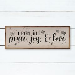Upon All Peace Joy And Love Framed Wall Sign