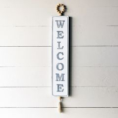 Vertical Hanging Welcome Sign