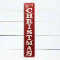 Vertical Metal Merry Christmas Sign