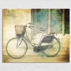 Vintage Bicycle Wrapped Canvas Wall Art