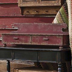 Vintage Inspired 2 Drawer Counter Shelf